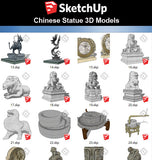 【Sketchup 3D Models】57 Types of Chinese Statue Design 3D Models - CAD Design | Download CAD Drawings | AutoCAD Blocks | AutoCAD Symbols | CAD Drawings | Architecture Details│Landscape Details | See more about AutoCAD, Cad Drawing and Architecture Details