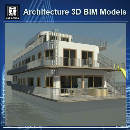Boathouse - BIM 3D Models - CAD Design | Download CAD Drawings | AutoCAD Blocks | AutoCAD Symbols | CAD Drawings | Architecture Details│Landscape Details | See more about AutoCAD, Cad Drawing and Architecture Details