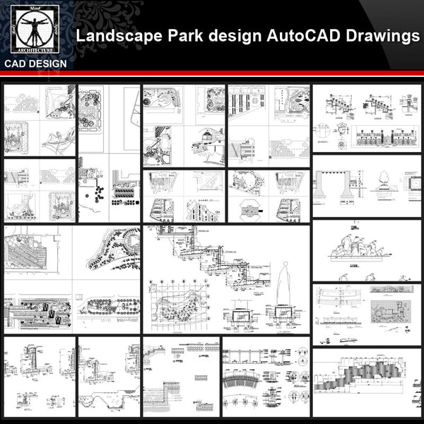 ★【Landscape Park Design Details Autocad Drawings Collections】All kinds of Landscape Details CAD Drawings - CAD Design | Download CAD Drawings | AutoCAD Blocks | AutoCAD Symbols | CAD Drawings | Architecture Details│Landscape Details | See more about AutoCAD, Cad Drawing and Architecture Details