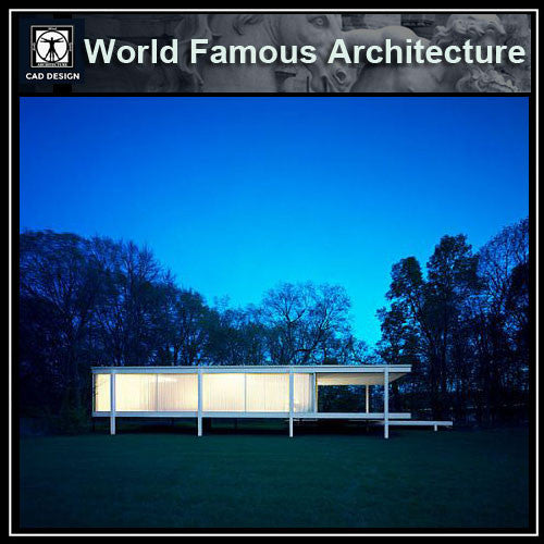 Ludwig Mies van der Rohe - Farnsworth House - CAD Design | Download CAD Drawings | AutoCAD Blocks | AutoCAD Symbols | CAD Drawings | Architecture Details│Landscape Details | See more about AutoCAD, Cad Drawing and Architecture Details