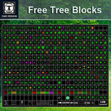 Free Tree Blocks - CAD Design | Download CAD Drawings | AutoCAD Blocks | AutoCAD Symbols | CAD Drawings | Architecture Details│Landscape Details | See more about AutoCAD, Cad Drawing and Architecture Details