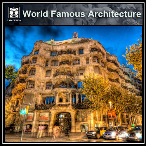 Casa Mila-Antoni Gaudí - CAD Design | Download CAD Drawings | AutoCAD Blocks | AutoCAD Symbols | CAD Drawings | Architecture Details│Landscape Details | See more about AutoCAD, Cad Drawing and Architecture Details