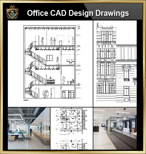 ★【Office, Commercial building, mixed business building CAD Design Project V.6】@Autocad Blocks,Drawings,CAD Details,Elevation