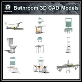 Bathroom 3D Cad Models - CAD Design | Download CAD Drawings | AutoCAD Blocks | AutoCAD Symbols | CAD Drawings | Architecture Details│Landscape Details | See more about AutoCAD, Cad Drawing and Architecture Details