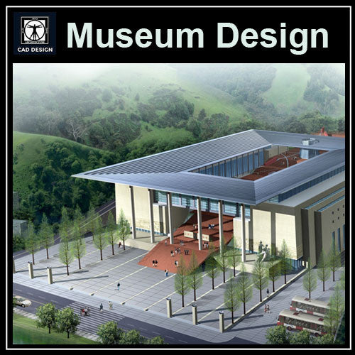 Museum Design Cad Drawings 3 - CAD Design | Download CAD Drawings | AutoCAD Blocks | AutoCAD Symbols | CAD Drawings | Architecture Details│Landscape Details | See more about AutoCAD, Cad Drawing and Architecture Details