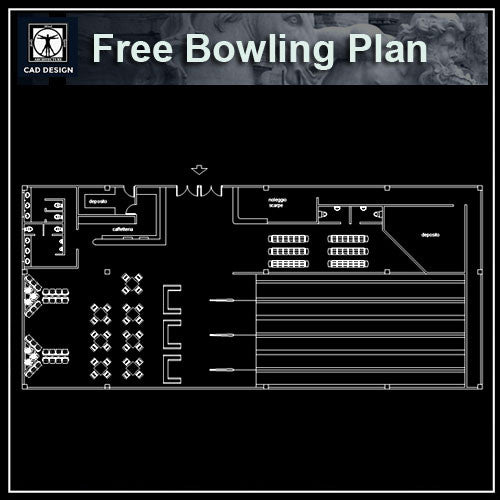 Free Bowling plan - CAD Design | Download CAD Drawings | AutoCAD Blocks | AutoCAD Symbols | CAD Drawings | Architecture Details│Landscape Details | See more about AutoCAD, Cad Drawing and Architecture Details