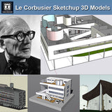 24 Types of Le Corbusier Architecture Sketchup 3D Models(Recommanded!!) - CAD Design | Download CAD Drawings | AutoCAD Blocks | AutoCAD Symbols | CAD Drawings | Architecture Details│Landscape Details | See more about AutoCAD, Cad Drawing and Architecture Details