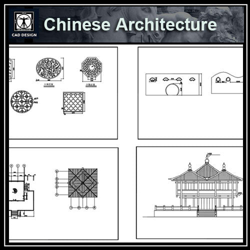 Chinese Architecture CAD Drawings 3 - CAD Design | Download CAD Drawings | AutoCAD Blocks | AutoCAD Symbols | CAD Drawings | Architecture Details│Landscape Details | See more about AutoCAD, Cad Drawing and Architecture Details