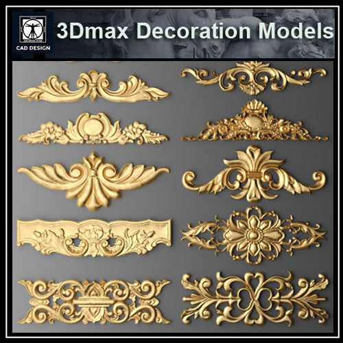3D Max Decoration Models V.2 - CAD Design | Download CAD Drawings | AutoCAD Blocks | AutoCAD Symbols | CAD Drawings | Architecture Details│Landscape Details | See more about AutoCAD, Cad Drawing and Architecture Details