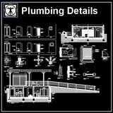 Plumbing Details - CAD Design | Download CAD Drawings | AutoCAD Blocks | AutoCAD Symbols | CAD Drawings | Architecture Details│Landscape Details | See more about AutoCAD, Cad Drawing and Architecture Details