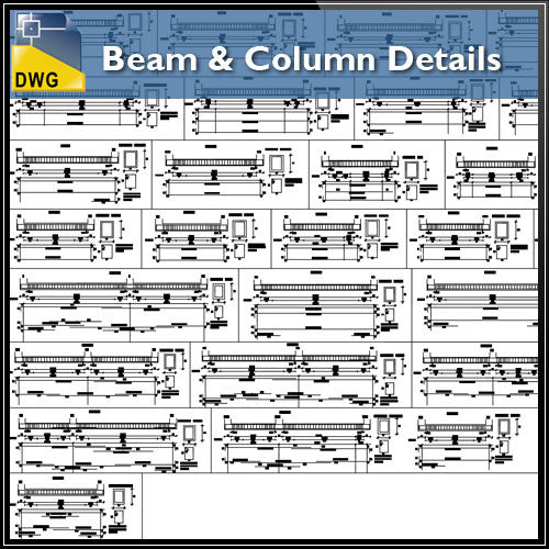 Beam & column detail - CAD Design | Download CAD Drawings | AutoCAD Blocks | AutoCAD Symbols | CAD Drawings | Architecture Details│Landscape Details | See more about AutoCAD, Cad Drawing and Architecture Details