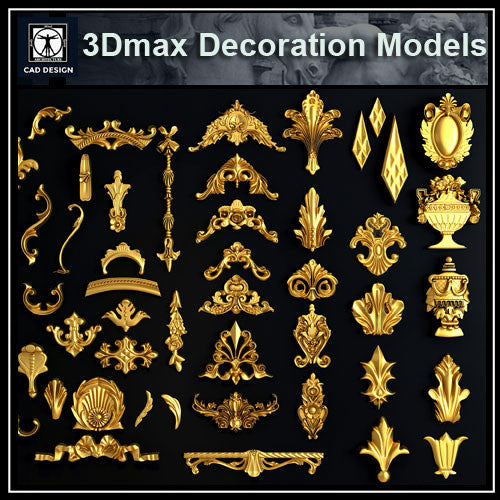 3D Max Decoration Models V.1 - CAD Design | Download CAD Drawings | AutoCAD Blocks | AutoCAD Symbols | CAD Drawings | Architecture Details│Landscape Details | See more about AutoCAD, Cad Drawing and Architecture Details