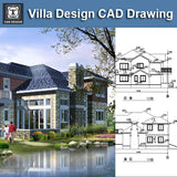 Villa Design CAD Drawings V10 - CAD Design | Download CAD Drawings | AutoCAD Blocks | AutoCAD Symbols | CAD Drawings | Architecture Details│Landscape Details | See more about AutoCAD, Cad Drawing and Architecture Details