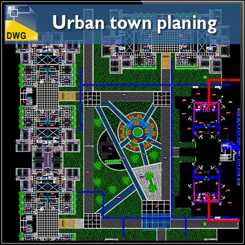Urban town planing - CAD Design | Download CAD Drawings | AutoCAD Blocks | AutoCAD Symbols | CAD Drawings | Architecture Details│Landscape Details | See more about AutoCAD, Cad Drawing and Architecture Details
