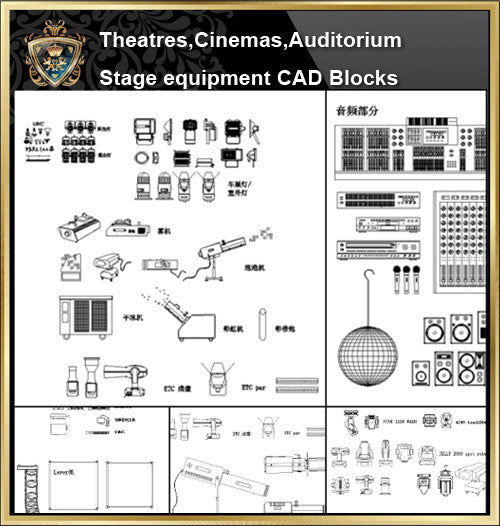 ★【Auditorium ,Cinema, Theaters CAD Blocks-Stage lighting,Stage sound system CAD Blocks】@Auditorium ,Cinema, Theaters CAD Blocks,Stage lighting,Stage sound system Autocad Blocks,Drawings,Details - CAD Design | Download CAD Drawings | AutoCAD Blocks | AutoCAD Symbols | CAD Drawings | Architecture Details│Landscape Details | See more about AutoCAD, Cad Drawing and Architecture Details