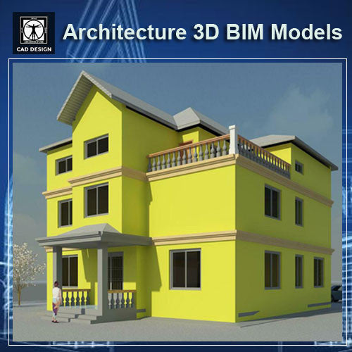 Architecture BIM 3D Models-Villa Design - CAD Design | Download CAD Drawings | AutoCAD Blocks | AutoCAD Symbols | CAD Drawings | Architecture Details│Landscape Details | See more about AutoCAD, Cad Drawing and Architecture Details