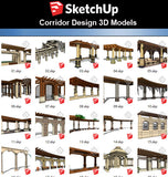 【Sketchup 3D Models】22 Types of Corridor Design 3D Models