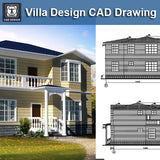 Villa Design CAD Drawings V12