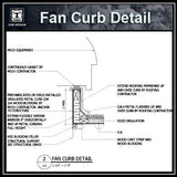 Free CAD Details-Fan Curb Detail