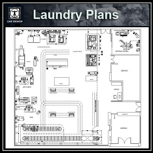 Laundry Plans Cad Design Free Cad Blocks Drawings Details