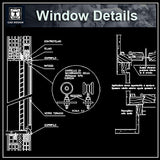 Free Window Details - CAD Design | Download CAD Drawings | AutoCAD Blocks | AutoCAD Symbols | CAD Drawings | Architecture Details│Landscape Details | See more about AutoCAD, Cad Drawing and Architecture Details