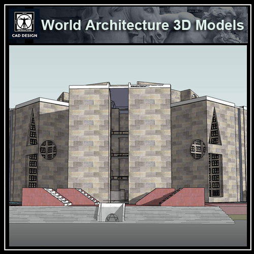Sketchup 3D Architecture models- National Assembly Building of Bangladesh(Louis Kahn )