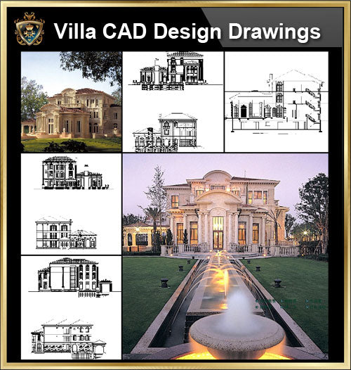 ★【Villa CAD Design,Details Project V.5-French Riviera Style】Chateau,Manor,Mansion,Villa@Autocad Blocks,Drawings,CAD Details,Elevation - CAD Design | Download CAD Drawings | AutoCAD Blocks | AutoCAD Symbols | CAD Drawings | Architecture Details│Landscape Details | See more about AutoCAD, Cad Drawing and Architecture Details
