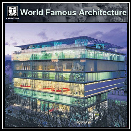 Sendai Mediatheque-Toyo Ito - CAD Design | Download CAD Drawings | AutoCAD Blocks | AutoCAD Symbols | CAD Drawings | Architecture Details│Landscape Details | See more about AutoCAD, Cad Drawing and Architecture Details