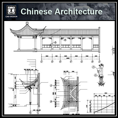 Chinese Architecture CAD Drawings-Chinese Pavilion,Garden