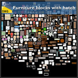 Furniture blocks with hatch