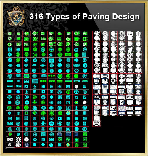 316 Types of Paving Design - CAD Design | Download CAD Drawings | AutoCAD Blocks | AutoCAD Symbols | CAD Drawings | Architecture Details│Landscape Details | See more about AutoCAD, Cad Drawing and Architecture Details