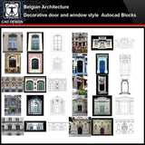 ★【Belgian Architecture Style Design】Belgian architecture · Decorative door and window style CAD Drawings - CAD Design | Download CAD Drawings | AutoCAD Blocks | AutoCAD Symbols | CAD Drawings | Architecture Details│Landscape Details | See more about AutoCAD, Cad Drawing and Architecture Details