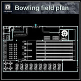 Bowling Field Plans - CAD Design | Download CAD Drawings | AutoCAD Blocks | AutoCAD Symbols | CAD Drawings | Architecture Details│Landscape Details | See more about AutoCAD, Cad Drawing and Architecture Details