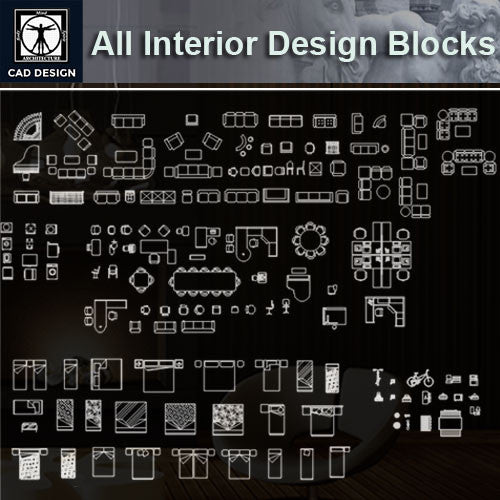 All Interior Design Blocks 8 - CAD Design | Download CAD Drawings | AutoCAD Blocks | AutoCAD Symbols | CAD Drawings | Architecture Details│Landscape Details | See more about AutoCAD, Cad Drawing and Architecture Details