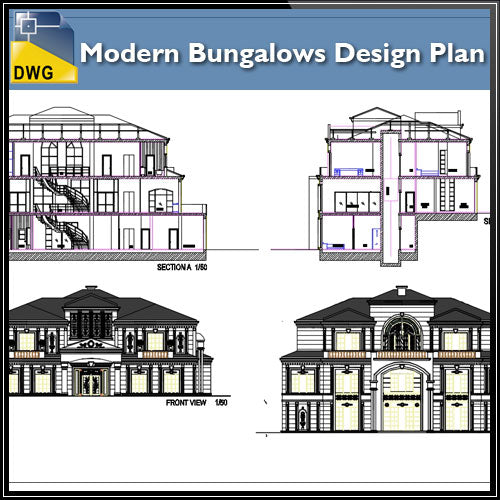 Modern Bungalows Design Plan
