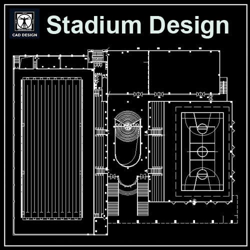 Stadium Cad Drawings 5 - CAD Design | Download CAD Drawings | AutoCAD Blocks | AutoCAD Symbols | CAD Drawings | Architecture Details│Landscape Details | See more about AutoCAD, Cad Drawing and Architecture Details