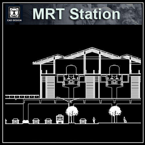 MRT Station Cad Drawings 2 - CAD Design | Download CAD Drawings | AutoCAD Blocks | AutoCAD Symbols | CAD Drawings | Architecture Details│Landscape Details | See more about AutoCAD, Cad Drawing and Architecture Details
