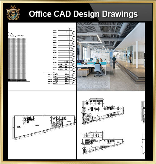★【Office, Commercial building, mixed business building CAD Design Project V.7】@Autocad Blocks,Drawings,CAD Details,Elevation
