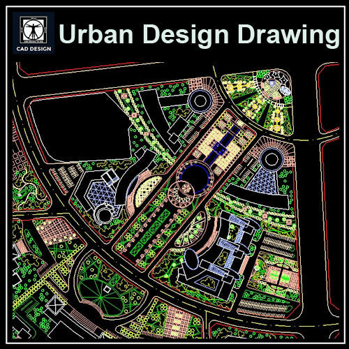 Urban City Design 1 - CAD Design | Download CAD Drawings | AutoCAD Blocks | AutoCAD Symbols | CAD Drawings | Architecture Details│Landscape Details | See more about AutoCAD, Cad Drawing and Architecture Details