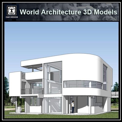 Sketchup 3D Architecture models- Saltzman House(Richard Meier) - CAD Design | Download CAD Drawings | AutoCAD Blocks | AutoCAD Symbols | CAD Drawings | Architecture Details│Landscape Details | See more about AutoCAD, Cad Drawing and Architecture Details