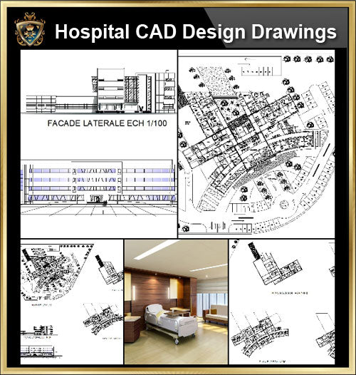 ★【Hospital design,Treatment room CAD Design Drawings V.5】@Medical equipment, ward equipment-Autocad Blocks,Drawings,CAD Details,Elevation