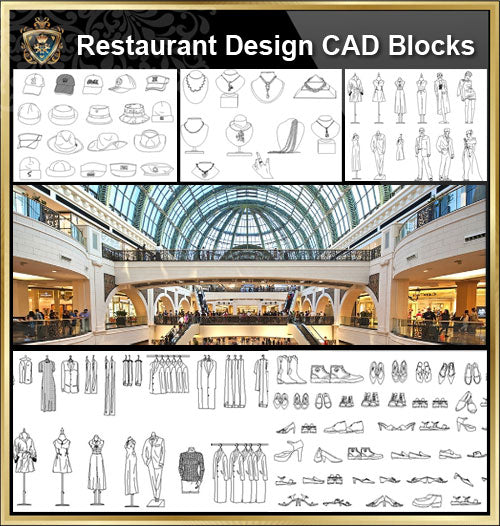 ★【Shopping Centers,Store CAD Design Blocks,Details】@Shopping centers, department stores, boutiques, clothing stores, women's wear, men's wear, store design-Autocad Blocks,Drawings,CAD Details