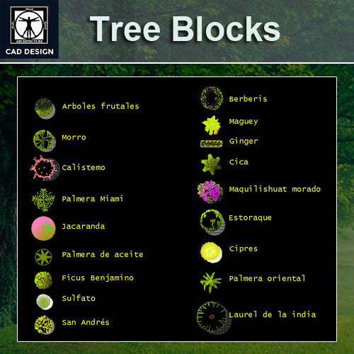 Free Tree Color Blocks - CAD Design | Download CAD Drawings | AutoCAD Blocks | AutoCAD Symbols | CAD Drawings | Architecture Details│Landscape Details | See more about AutoCAD, Cad Drawing and Architecture Details