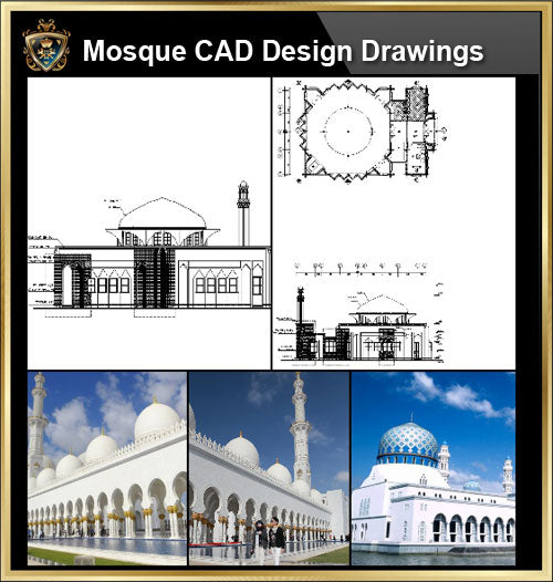 ★【Mosque CAD Drawings,Details V.1】@CAD Design drawings