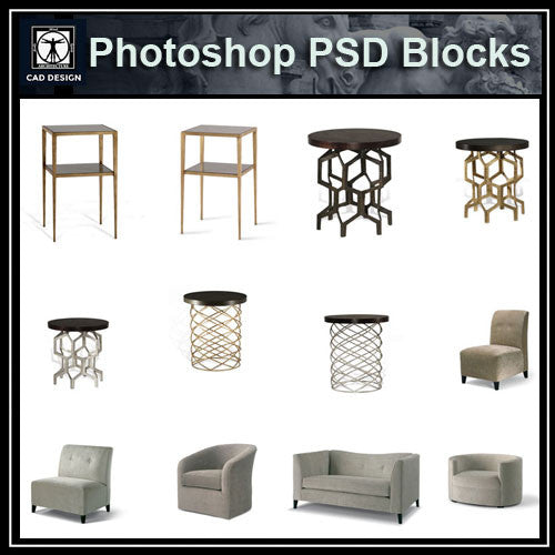 Photoshop PSD Furniture Blocks