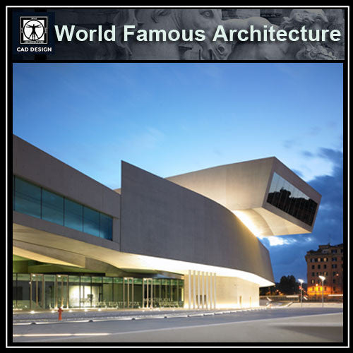 MAXXI Museum -Zaha Hadid - CAD Design | Download CAD Drawings | AutoCAD Blocks | AutoCAD Symbols | CAD Drawings | Architecture Details│Landscape Details | See more about AutoCAD, Cad Drawing and Architecture Details