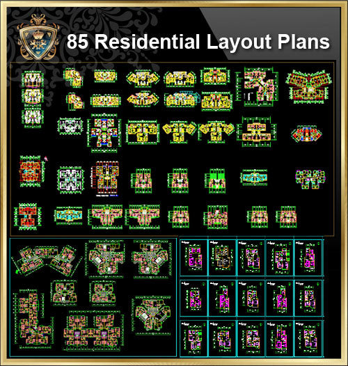 85 Types of Residential Layout Plans (Best Recommanded!!)