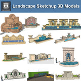 European Fountain & Waterfall Landscape-Sketchup 3D Models(Best Recommanded!!) - CAD Design | Download CAD Drawings | AutoCAD Blocks | AutoCAD Symbols | CAD Drawings | Architecture Details│Landscape Details | See more about AutoCAD, Cad Drawing and Architecture Details