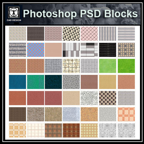 Photoshop PSD Paving Design Blocks 4