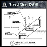 Free CAD Details-Tread Riser Detail @ Floor - CAD Design | Download CAD Drawings | AutoCAD Blocks | AutoCAD Symbols | CAD Drawings | Architecture Details│Landscape Details | See more about AutoCAD, Cad Drawing and Architecture Details